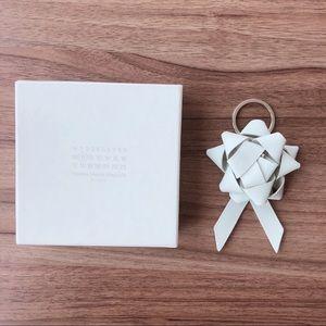 Maison Margiela Leather Gift Bow Keyring/Keychain